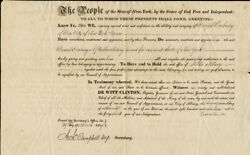 Dewitt Clinton - Civil Appointment Signed 03/29/1819 With Co-signers