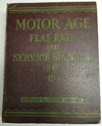 1947 Motors Service Manual And Flat Ratel - Covers 1938-1947 Great Condition
