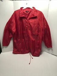 Red Windbreaker By Totes Size L xl Zip Up $11.99