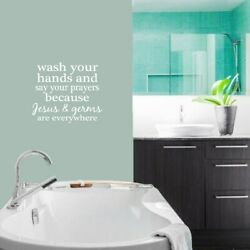 Wash Your Hands and Say Your Prayers#x27; 26 x 22.5 inch Wall