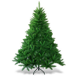 6ft Pvc Christmas Tree Artificial Encryption Premium Hinged 1116 Tips W/ Stand