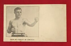 Antique Circa 1910 Boxing Premium Photo Fred Van Auch ? Old Early Boxer Vintage