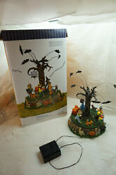 Dept 56 Halloween Village Costume Parade Animated Lighted Orig Box As Is