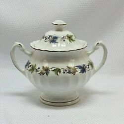 Vintage J And G Meakin Fine China England Woodland Classic White Sugar Bowl / Lid