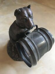 Simpson Hall Miller And Co Plated Silver Dog Napkin Holder 800 Super Rare. 14/14
