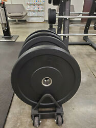 Rubber Bumper Plates - Brand New Set Of 1015 25 3545 Lbs = 260 Lbs Total