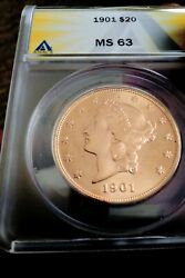 1901 20 Gold Double Eagle Ms63 Low Mintage.andnbsp Andnbspmarch 2 2021..no Longer For Sale