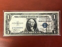 1935-a 1 One Dollar Silver Certificate Andldquowwii Short Snorter 2-9-1943andrdquo