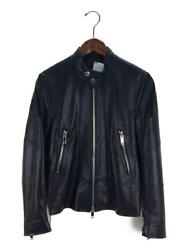 Valentino Single Rider Jacket Leather Black Size M Used From Japan F/s
