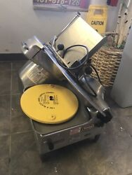 Berkel 818 Food Slicer - Used - With Blade Sharpener, Guard, And Tray- Automatic