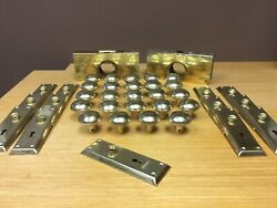 Vintage Matching Brass Door Knobs 24 With 13 Brass Backplates