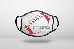 Buckeyes Football - Scarlet Gray - Cotton Reusable Soft Face Mask Covering