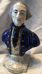 Rare Antique Staffordshire George Washington Bust Early 1800s Details 8andrdquo