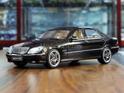 1/18 Otto Mercedes Benz S-class S65 W220 Amg Diecast Car Model Collection Black