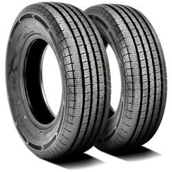 2 New Americus Commercial L/t 225/75r16 115/112q E 10 Ply Commercial Tires