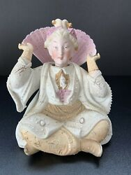 Antique Chinese Painted Ceramic Nodder Must See