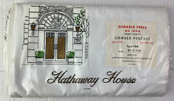 Vintage Sheets By Hathaway House Size 81x104 Made In Usa No Irion Combed Percale