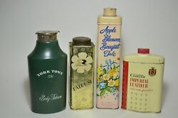 Talc Talcum Powder Beauty Lot Of Tins And Containers Apple Blossom Rawleigh Cusson