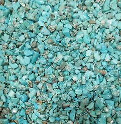 Turquoise Gemstone Chips Nugget No Hole Undrilled For Bottles Jewelry Gem Blue M