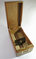 Restored And Refinished Vintage 1970 Solid Cherry Merchantand039s Card File Box