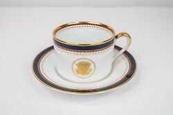 Ronald Reagan White House China Service Fitz Floyd Tea Cup And Saucer Wrong Stamp