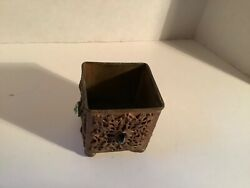 """Vintage Collectible Vanity Jeweled Container Empire Art 2.25"""" H"""