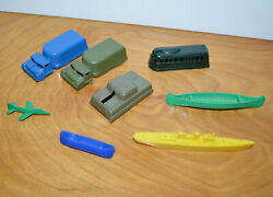 Vintage Mohawk Mpc And Others Plastic Toys Military Transport Battleship Antique