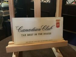 10 Canadian Club Reverse Glass Advertising Sign Watch Video