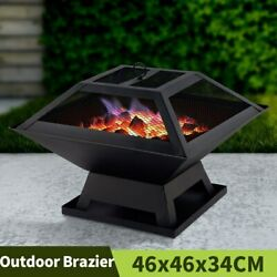 Bbq Grill Outdoor Heater Garden Fireplace Fire Pit Barbecue Brazier Wood Stove
