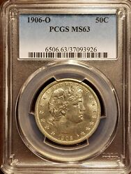 1906-o Barber Half Dollar Pcgs Ms63 - Gem Brilliant Coin