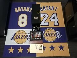 Ultimate Kobe Bryant Collection Nba Lakers Championship Rings Jersey Pins Ticket