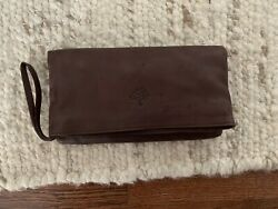 Mulberry Brown Leather Clutch Purse $18.00