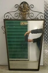 Art Deco Mirror Hand Hammered Rare With Griffin