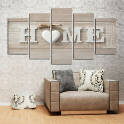 Love Sanctuary Home Letters Canvas Art Sweet Heart Painting Wall Hanging YF