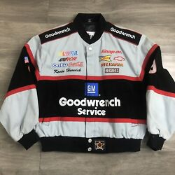 New Chase Authentics Nascar Jacket Kids Youth Size M Goodwrench Service