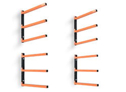 Wood Organizer and Lumber Storage Metal Rack with 3 Level Wall Mount2 Pack