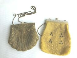 2 Beaded Evening Bags Vintage Andre Cellini Gold Glass Seashell 1 Unbranded $13.95