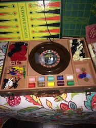 Game Set With Roulette Cribbage And More Vintage