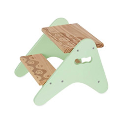 B. Spaces By Battat Andndash Kids Wooden Two Step Stool Andndash Peek-a-boost Andndash Mint And Wood