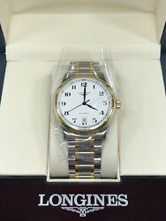 Longines Master Collection 38.5mm Automatic Stainless Steel And 18k Gold Cap Watch