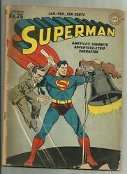 Superman 26 Dc 1944 Goebbels And Liberty Bell Classic War Cover