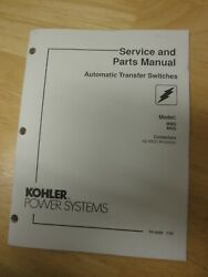 Kohler Service And Parts Manual Automatic Transfer Switch Modelsmms Mns 40-4000