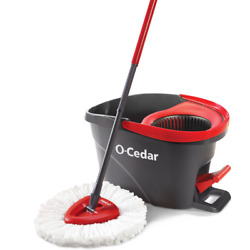 O Cedar Easy Wring Spin Mop Bucket System Hard Floor Wet Home Cleaning Tools