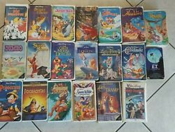 20 Disney Black Diamond And Other Type Vhs Tapes. Snow White And More Lmtd Edition