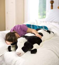 Large Cow Plush 4ft Body Pillow Giant Oversize Soft Stuffed Animal Plush Toy