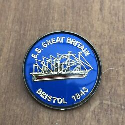 Ss Great Britain Badge Bristol 1843 Museum Great Western Steamship Co Harbour