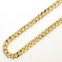 18k Yellow Gold Necklace About50cm Kihei 2sides About39.6g Free Shipping Used