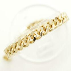18k Yellow Gold Anklet About20.5cm Kihei 2sides About37.5g Free Shipping Used