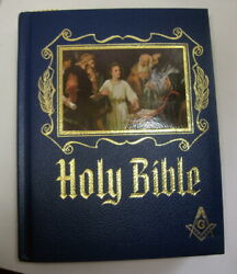 Masonic Master Reference Edition Heirloom Red Letter Holy Bible Gold Gilt 1971