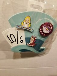 Oh My Disney Alice in Wonderland 3 Pin Set: Alice Dinah and the Cheshire Cat